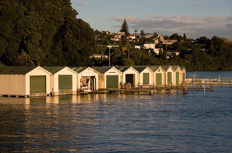 Hobson Bay Boat Sheds