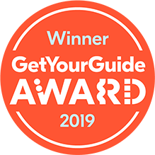 Winner. Get Your Guide Award. 2019